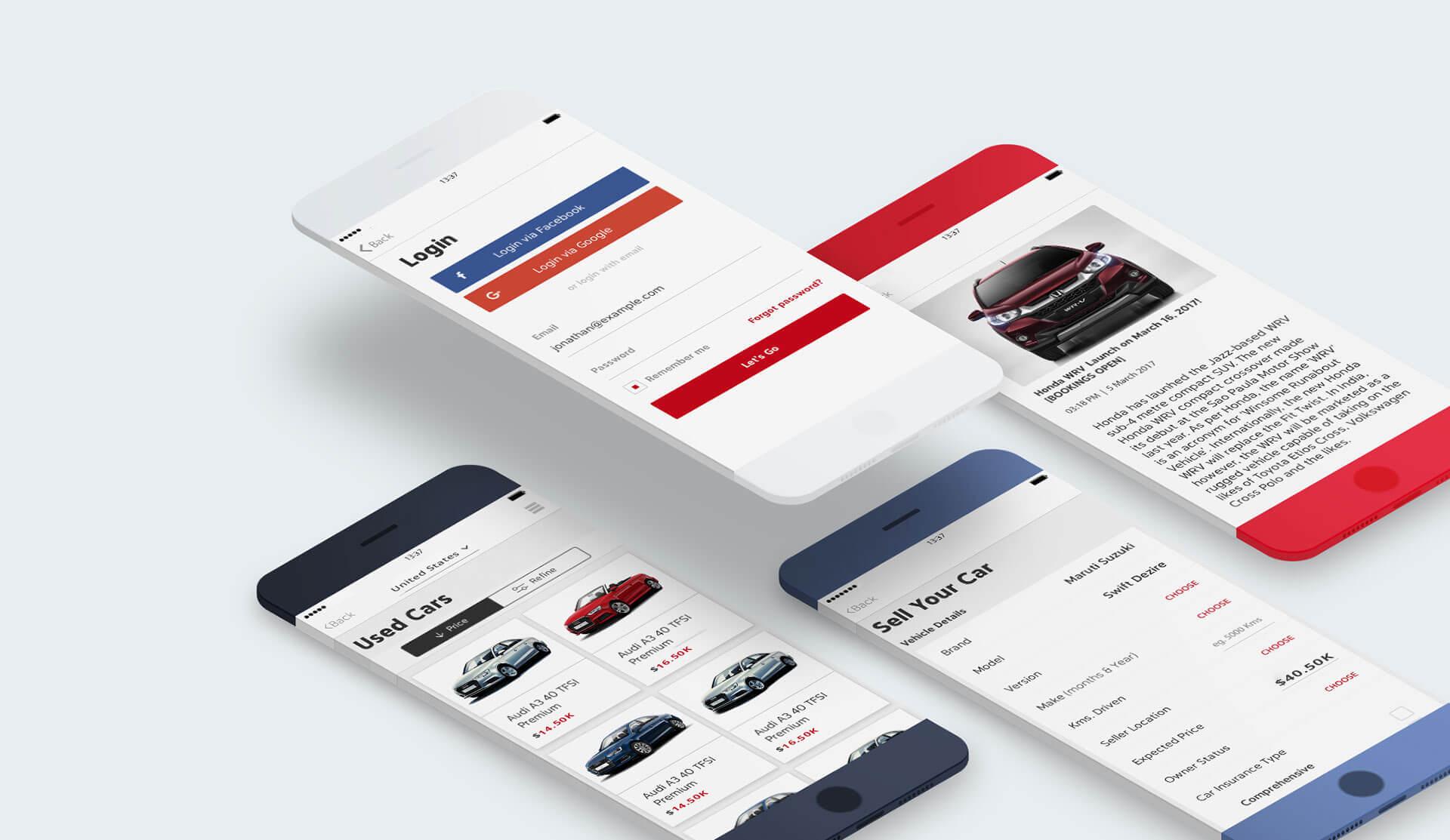 Car Trade Engine Screens