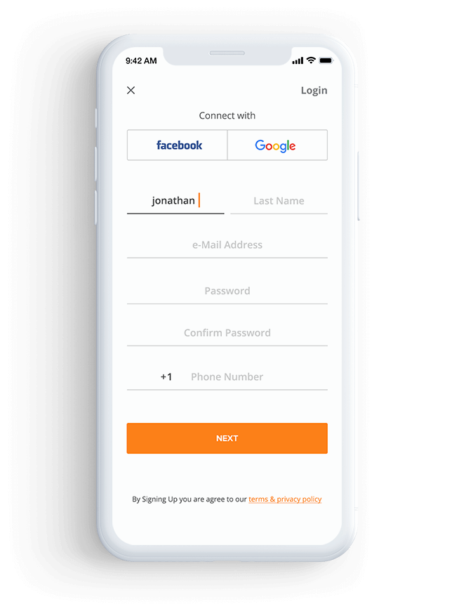 Custom & Social Login/Signup