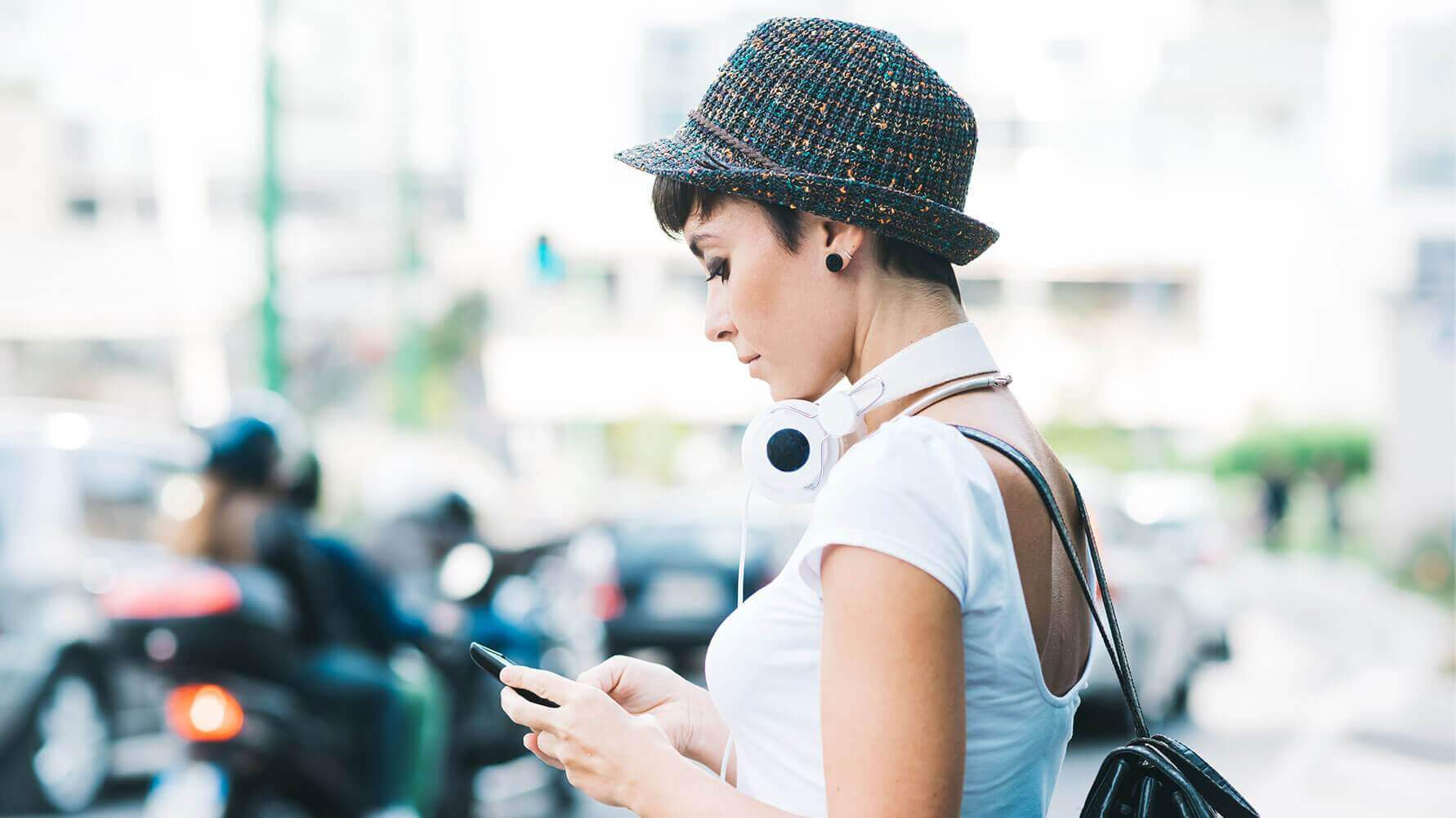 Girl Using Social Media App