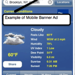 Mobile Banner Ad example