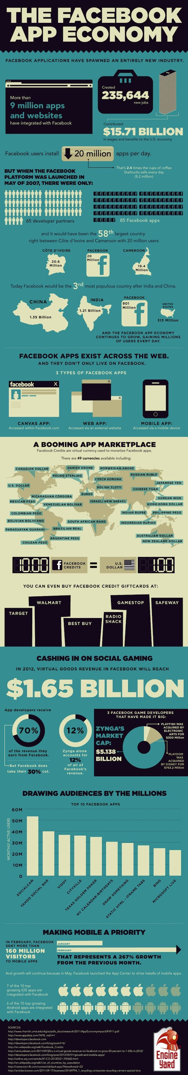 Facebook Application Development Infographics