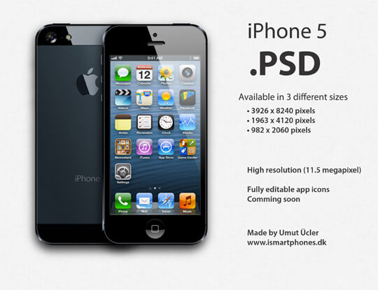 iPhone-5-Black-and-White-Blank-Templates-PSD