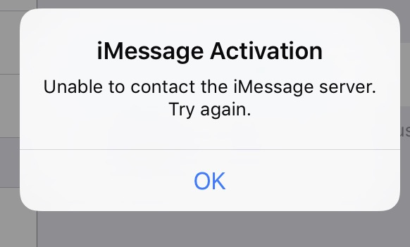 Issues with iMessage