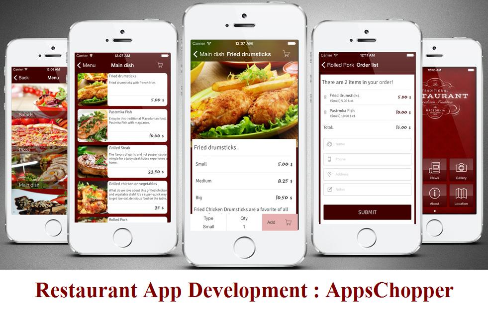 Restaurant app development online food ordering