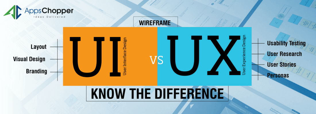 Differences Between UI and UX Design - AppsChopper Blog
