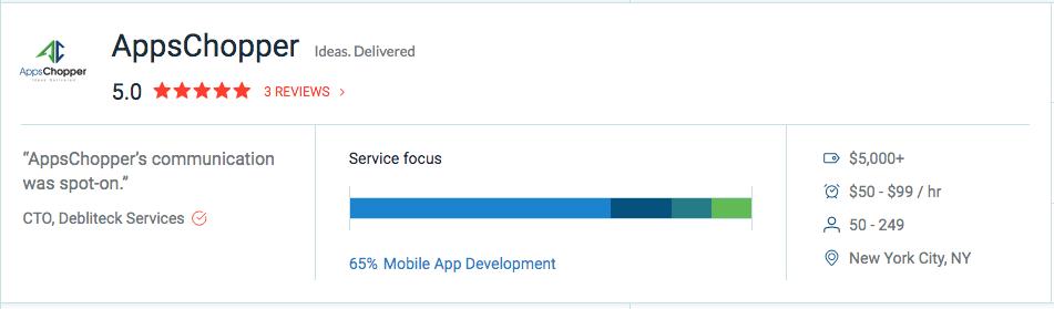 AppsChopper Profile - Clutch