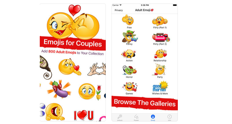 Adult Emoji App