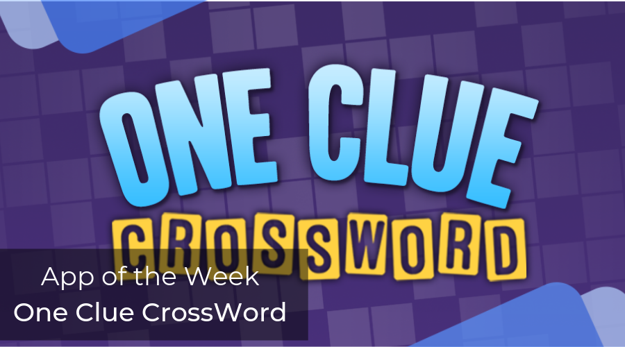App of the week - One Clue Crossword - AppsChopper