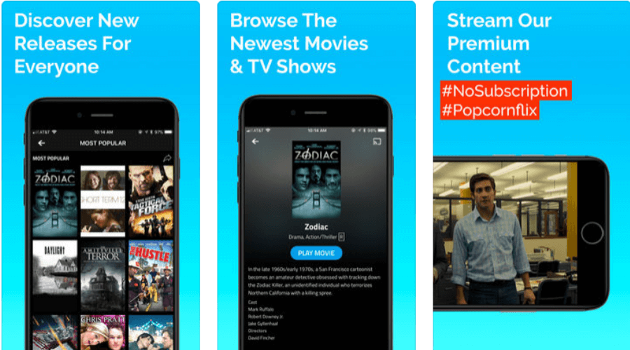 Popcornflix Screen