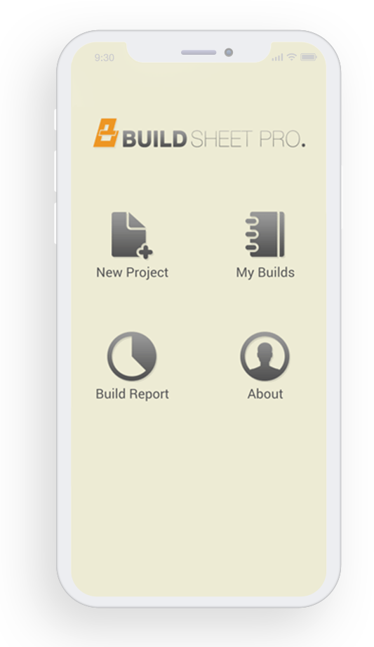 Build Sheet Pro feature